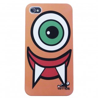 【ユニークなデザインのハードケース】 YETTIDE iPhone4S/4 Funny Face Case - Eyeball Monster  Orange