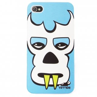 【ユニークなデザインのハードケース】 YETTIDE iPhone4S/4 Funny Face Case - Masked Man  Water Blue