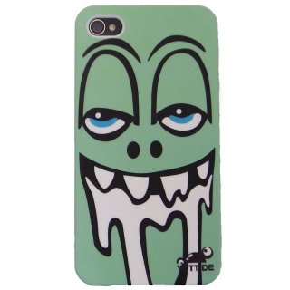 【ユニークなデザインのハードケース】 YETTIDE iPhone4S/4 Funny Face Case - Drool Man  Green