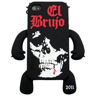 【手足の付いたソフトケース】 YETTIDE iPhone 4S/4 Character Sillicone Skin - el brujo  Black