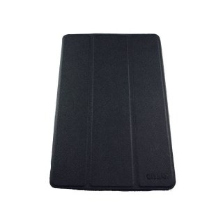 【スタンド機能付き】 GISSAR iPad mini 3/2/1 クロスパターン レザー調ケース  Black