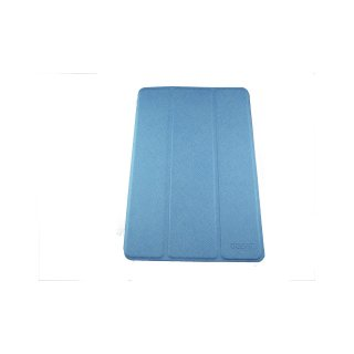 【スタンド機能付き】 GISSAR iPad mini 3/2/1 クロスパターン レザー調ケース  Blue