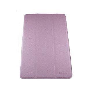 【スタンド機能付き】 GISSAR iPad mini 3/2/1 クロスパターン レザー調ケース  Pink