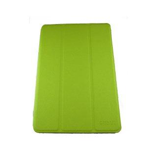 【スタンド機能付き】 GISSAR iPad mini 3/2/1 クロスパターン レザー調ケース  Green