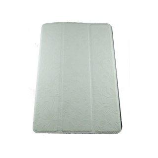 【スタンド機能付き】 GISSAR iPad mini 3/2/1 フラワーデザイン レザー調ケース  White