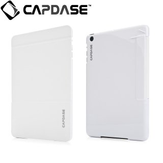 【スタンド機能付きケース】 CAPDASE iPad mini 3/2/1 Karapace Jacket Sider Elli  White