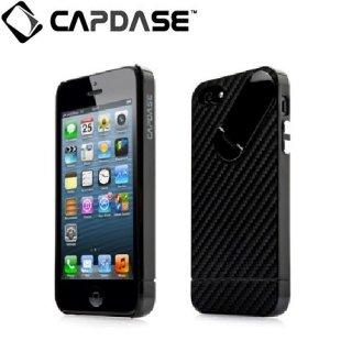 【カーボン調スタンド付きケース】 CAPDASE iPhone SE/5s/5 Snap Jacket Graphite Black/Black