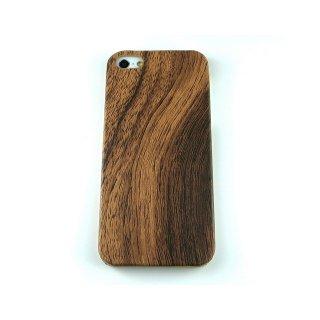 【シンプルなケース】 GauGau iPhone 5 Rear Cover Hard Case  Woodgrain Brown