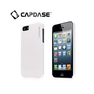 【真珠風の表面加工ケース】 CAPDASE iPhone SE/5s/5 Karapace Protective Case Pearl  Pearl White