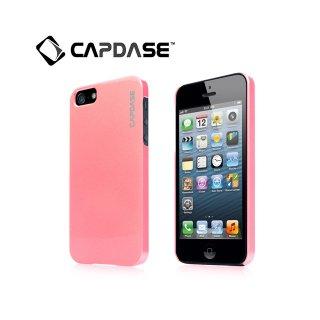 【真珠風の表面加工ケース】 CAPDASE iPhone SE/5s/5 Karapace Protective Case Pearl  Pearl Pink