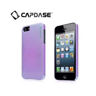 【真珠風の表面加工ケース】 CAPDASE iPhone SE/5s/5 Karapace Protective Case Pearl  Pearl Purple