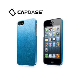 【サテン地風の表面加工ケース】 CAPDASE iPhone SE/5s/5 Karapace Protective Case Silva Satin  Blue