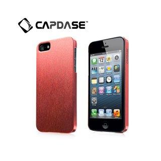 【サテン地風の表面加工ケース】 CAPDASE iPhone SE/5s/5 Karapace Protective Case Silva Satin  Red