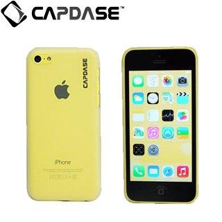 【薄型クリアータイプ】 CAPDASE iPhone 5c ハードケース 液晶保護シート付き  クリアー・ホワイト