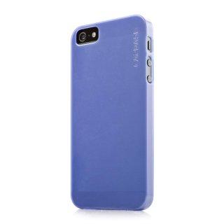 【厚さ0.75mmの薄いソフトケース】 CAPDASE iPhone SE/5s/5 用 Soft Jacket Lamina  Clear Blue