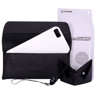 【ラメの入ったソフトケース】 CAPDASE iPhone SE/5s/5 用 Soft Jacket 2 XPOSE Sparko  Solid White
