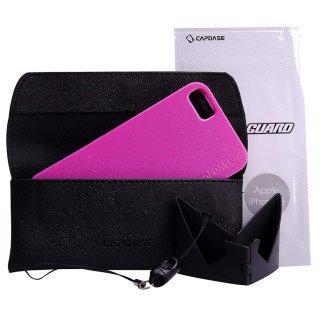 【ラメの入ったソフトケース】 CAPDASE iPhone SE/5s/5 用 Soft Jacket 2 XPOSE Sparko  Solid Fuchsia