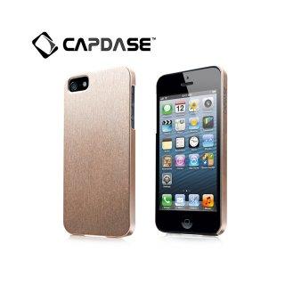 【サテン地風の表面加工ケース】 CAPDASE iPhone SE/5s/5 Karapace Protective Case Silva Satin  Gold