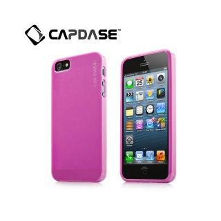 【厚さ0.75mmの薄いソフトケース】 CAPDASE iPhone SE/5s/5 用 Soft Jacket Lamina  Clear Fuchsia