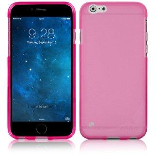 【iPhone6s Plus/6 Plus ケース やわらかく ハリのある 半透明 TPU素材製】 ahha Gummi Shell Case MOYA  Clear Fuchsia