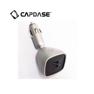【iPad に充電可能な車載用充電器】CAPDASE Dual USB Car Charger Joystick Max  Titanium / Black