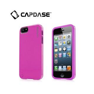【ポリカーボネートとシリコンの2層構造ケース】 CAPDASE iPhone SE/5s/5 Polimor Protective Case  Fuchsia