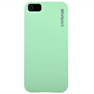 【滑りにくいハードケース】 CAPDASE iPhone SE/5s/5 Karapace Protective Case Touch  Light Green