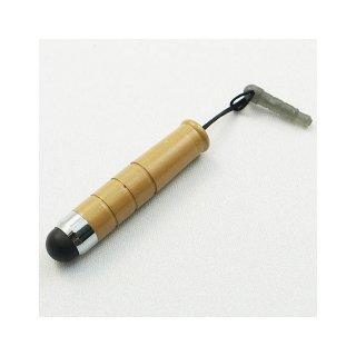 【イヤホンジャックに差し込み可能なスタイラス】 GauGau Capacitive Touch Stylus mini  Light Brown