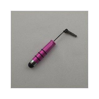 【イヤホンジャックに差し込み可能なスタイラス】 GauGau Capacitive Touch Stylus2 mini  Hot Pink