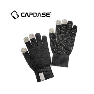 【スマホを操作可能な手袋】 CAPDASE Tapp Glove (指タッチ対応グローブ) Size S(21cm)  ブラック