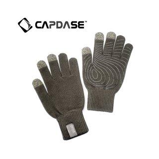 【スマホを操作可能な手袋】 CAPDASE Tapp Glove (指タッチ対応グローブ) Size S(21cm)  グレー