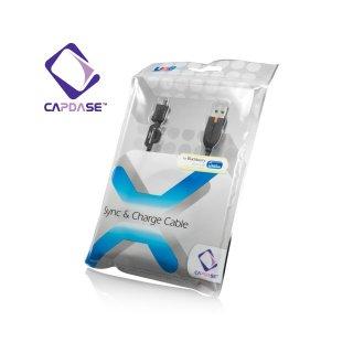 【充電・データ通信用ケーブル】CAPDASE Sync & Charge Cable USB-microUSB for HTC / BlackBerry