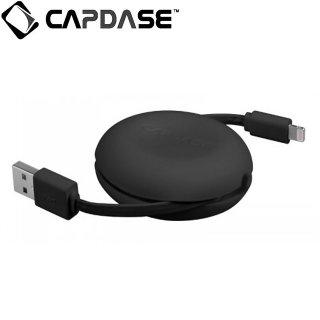 【便利な巻き取り式 Lightningケーブル Apple 認定品】 CAPDASE 通信 & 充電 用 Retractable Lightning Cable POSH  Black
