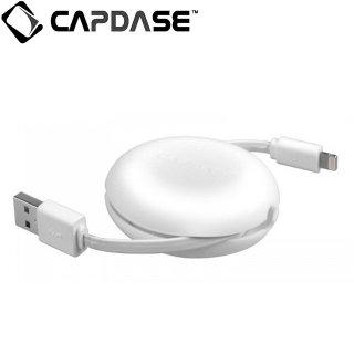 【便利な巻き取り式 Lightningケーブル Apple 認定品】 CAPDASE 通信 & 充電 用 Retractable Lightning Cable POSH  White