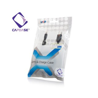 【充電・データ通信用ケーブル】CAPDASE Sync & Charge Cable USB-miniUSB for HTC / BlackBerry