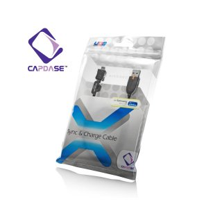 【充電・データ通信用ケーブル】CAPDASE Sync & Charge Cable USB-microUSB for Samsung