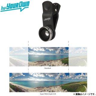 【簡単に装着可能なワイドレンズ】 hvYourOwn スマートフォン、タブレット用 Photo Lens Super Wide Angle