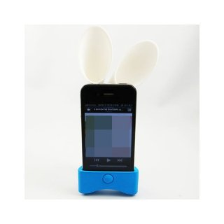【無電源スピーカースタンド】 Qric iPhone 4S/4 SOUND STAR Speaker Dock Stand  Blue