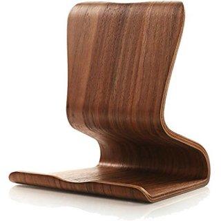 【天然木製タブレットスタンド】 SAMDI Wood Tablet Stand Brown 曲げ工法 天然木製(合板) スタイリッシュ スタンド