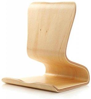 【天然木製タブレットスタンド】 SAMDI Wood Tablet Stand Ivoly 曲げ工法 天然木製(合板) スタイリッシュ スタンド