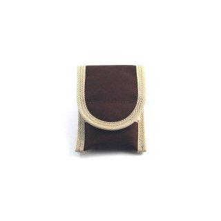 【丈夫なスリーブタイプケース】 GauGau Universal Mobile Pouch  Canvas-Nylon Brown