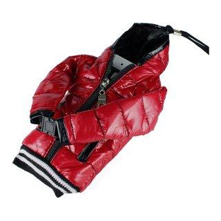 【5インチまで対応 汎用 スマートフォン ポーチ】 GauGau  Down Jacket Sytle Case Red  (ネックストラップ つき)