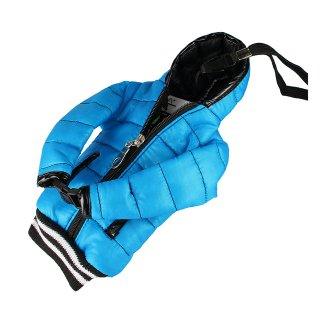 【5インチまで対応 汎用 スマートフォン ポーチ】 GauGau  Down Jacket Sytle Case Water Blue  (ネックストラップ つき)