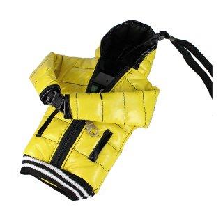 【5インチまで対応 汎用 スマートフォン ポーチ】 GauGau  Down Jacket Sytle Case  Yellow  (ネックストラップ つき)