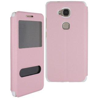 【Huawei GR5 手帳型ケース】 GauGau Huawei GR5 Smart Case  Light Pink/White (スタンド機能つき)