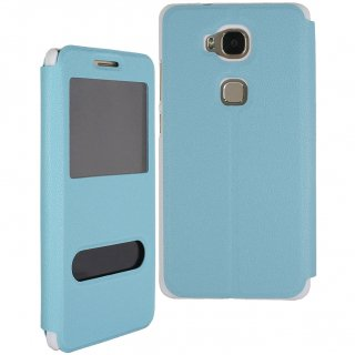【Huawei GR5 手帳型ケース】 GauGau Huawei GR5 Smart Case  Water Blue/White (スタンド機能つき)