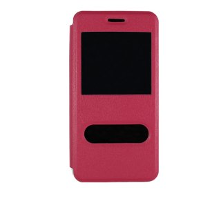 【Huawei Y6 手帳型ケース】 GauGau Huawei Y6 Smart Case  Hot Pink/White (スタンド機能つき)