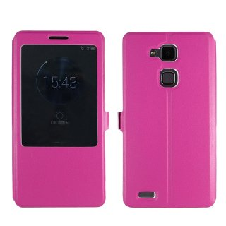 【Ascend Mate7 手帳型ケース】 GauGau Huawei Ascend Mate7 Smart Touch Cover  Pink (スタンド機能つき)