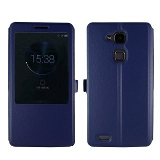 【Ascend Mate7 手帳型ケース】 GauGau Huawei Ascend Mate7 Smart Touch Cover  Navy (スタンド機能つき)
