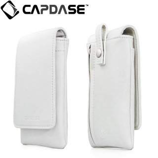【ループ付きケース】 CAPDASE スマートフォン 汎用ケース Novo Pocket Klassic Flip  White